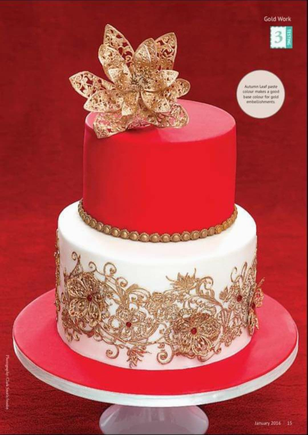 2-Tier Ruby & Lace