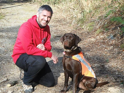 Jim and Jake after waulifying as a Search and Rescue Dog Handler