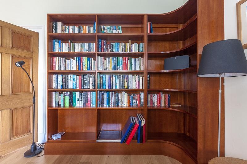 Cherry veneered bookcase