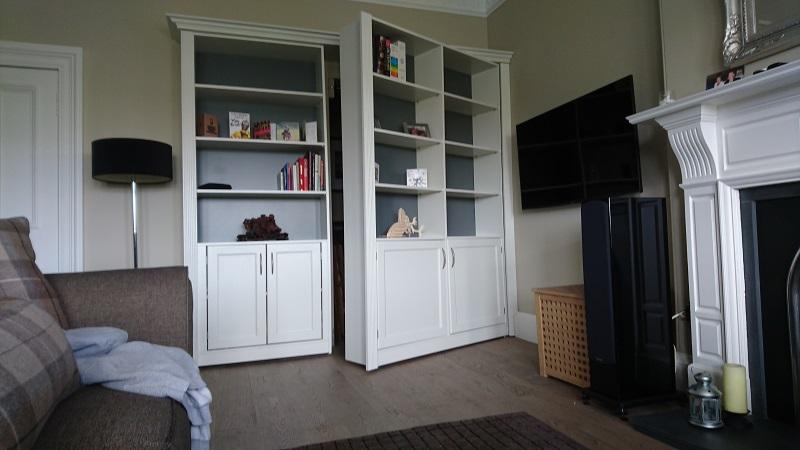 Bookcase with secret door