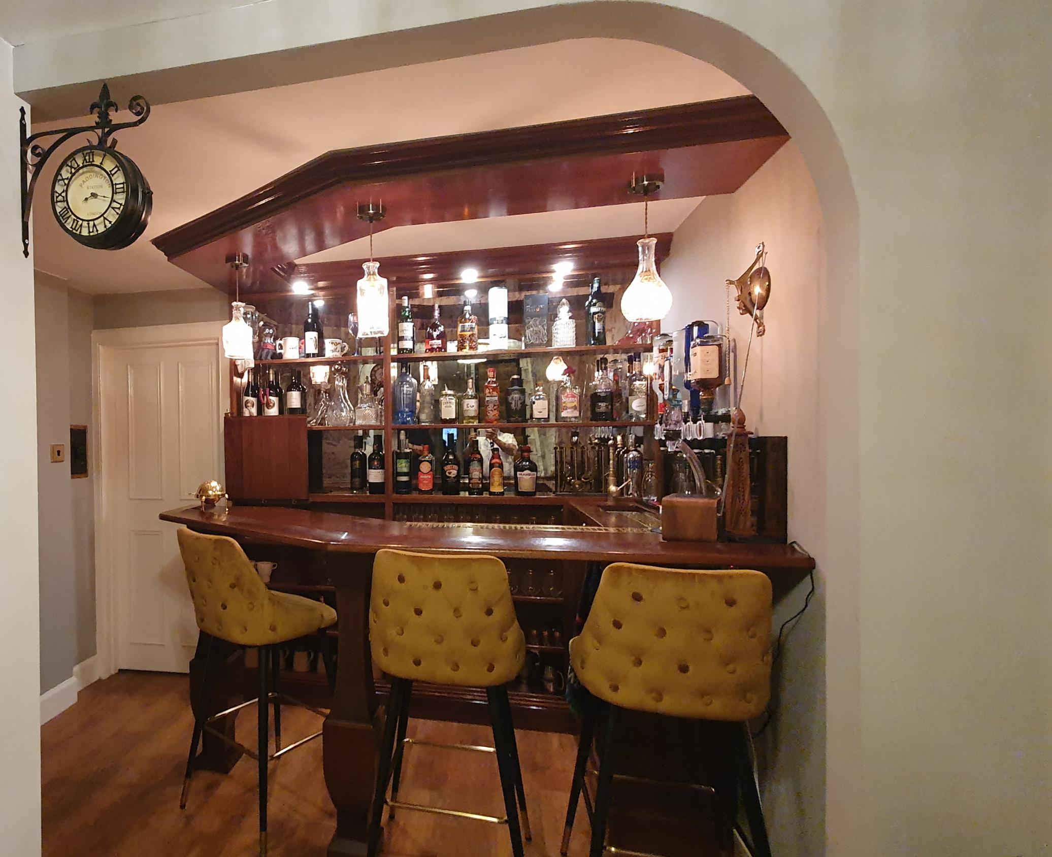 Handcrafted home bar