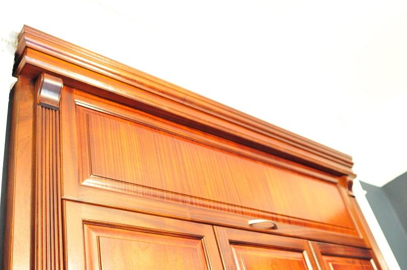 Bespoke mahogany wardrobe