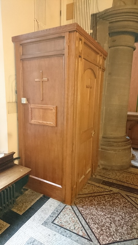 Covering of the Curch main fuse box.
