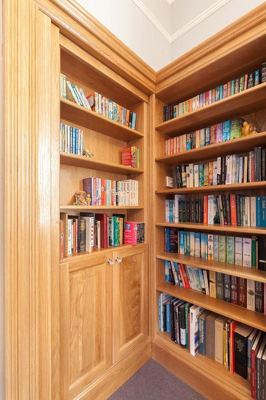 Home library with secret door