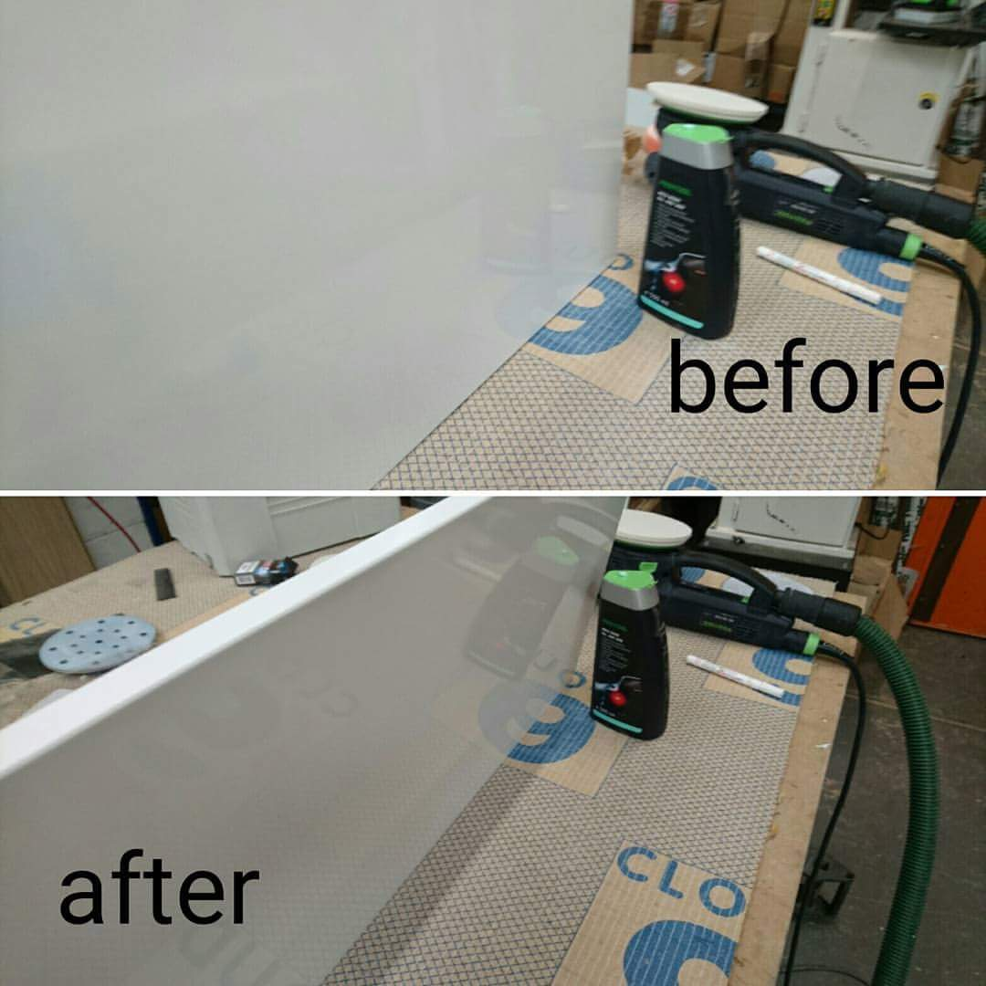 Polishing. Before-after
