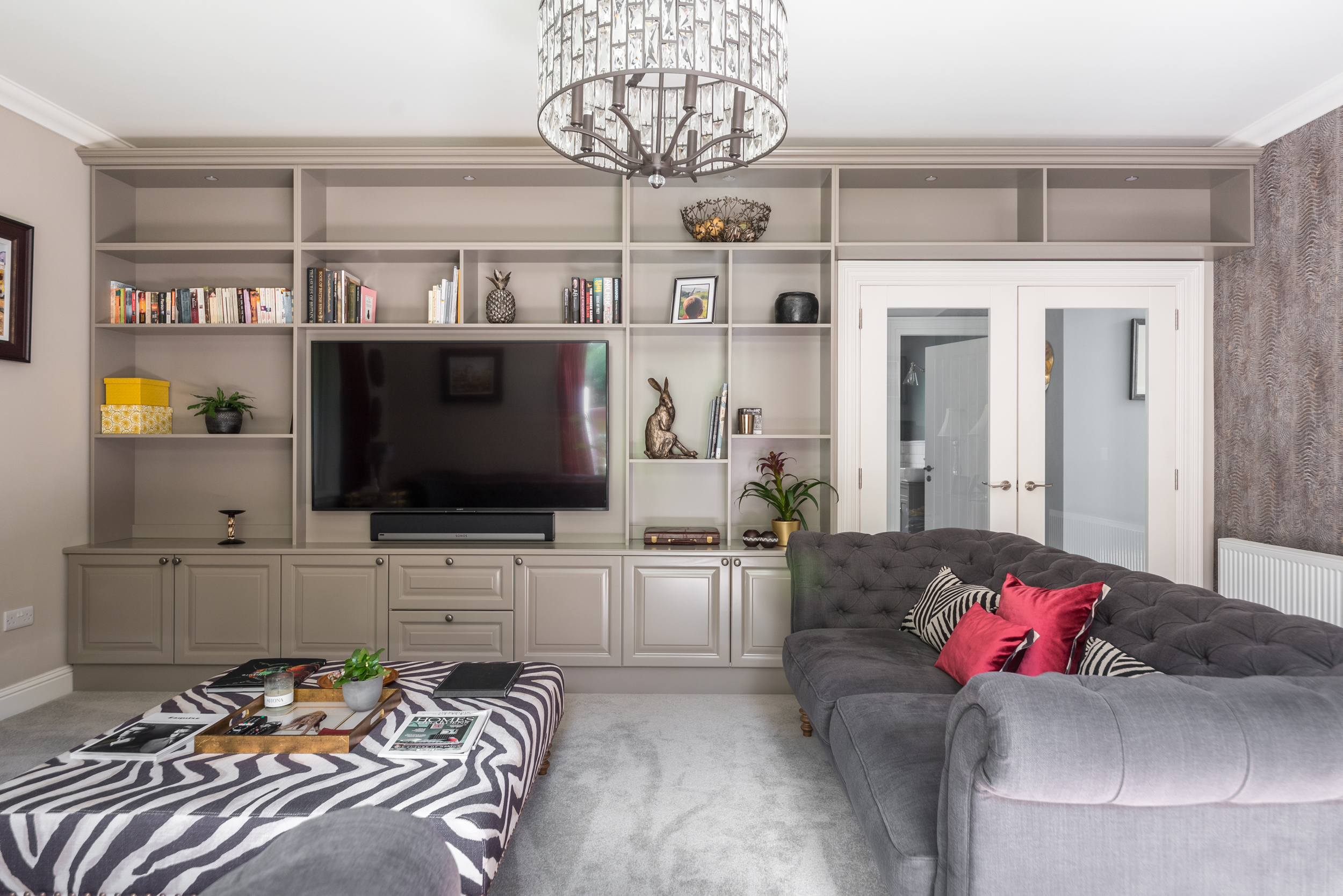 Bespoke drawing room bookcase