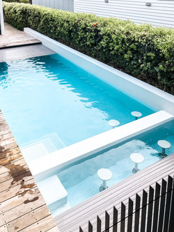 9x4m concrete pool w spa by Mobius Pools
