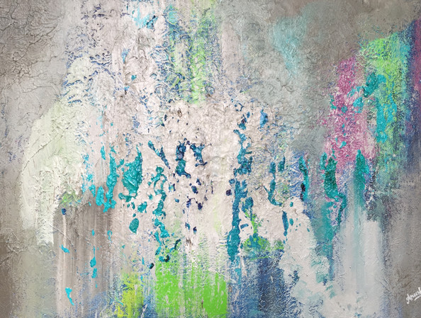 Turquoise | acrylic on canvas | 20 x 30 inches | SOLD