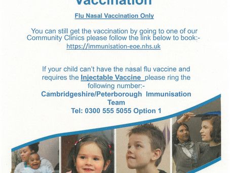 Has your child missed the flu immunisation?