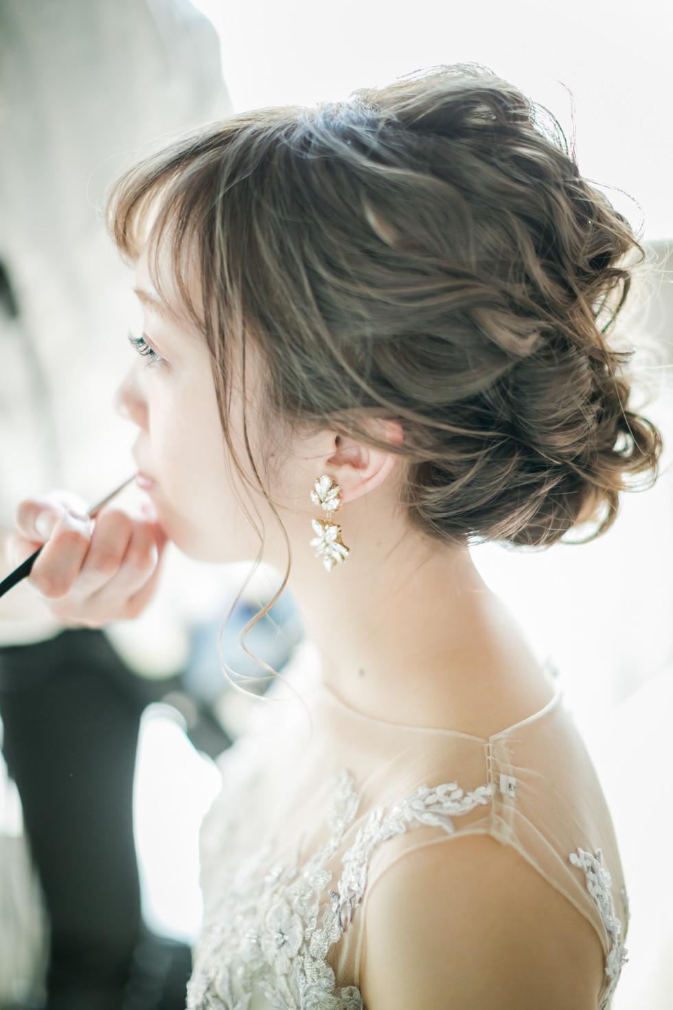 結婚式 メイクシーン