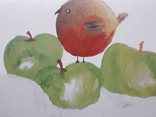 Robin Christmas Card - pack of 10