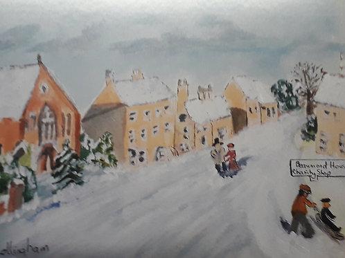 Winter Scene Christmas Card -  pack of 10