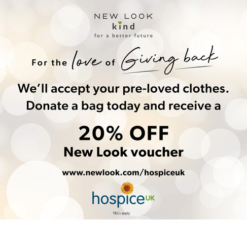 New Look Offers Festive Discount To Beaumond House Community Hospice Supporters in Newark