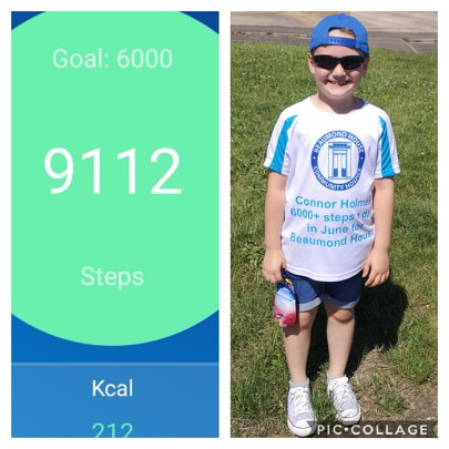 Connor's 6000 steps a day walk to fundraise for Beaumond House