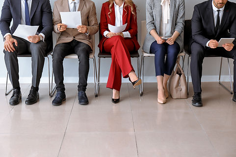 Young people waiting for job interview i