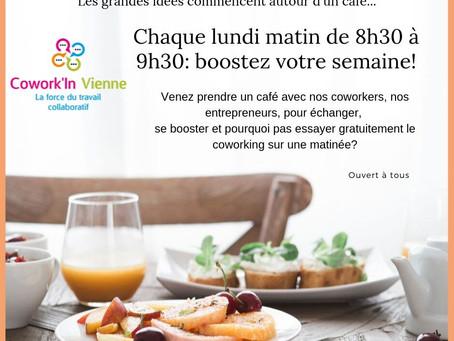 Café, Croissant, chaque lundi matin : pour booster sa semaine !