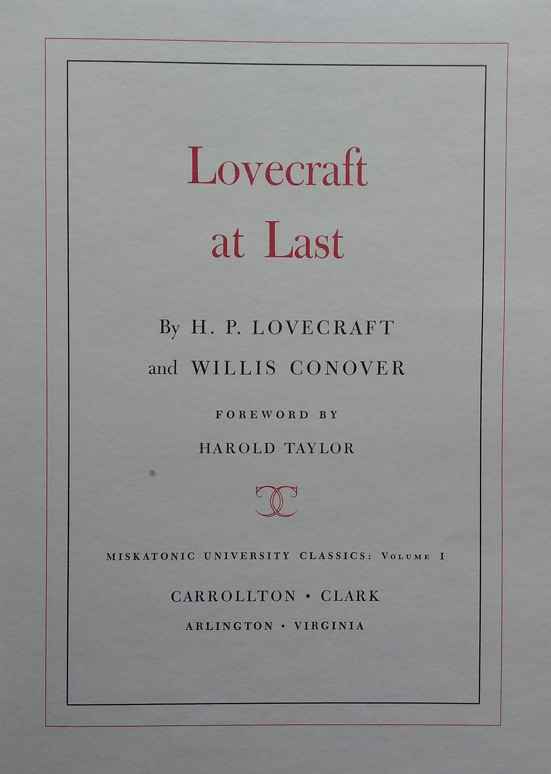Lovecraft at last