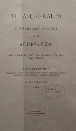 The Asuri-Kalpa a witchcraft practice of