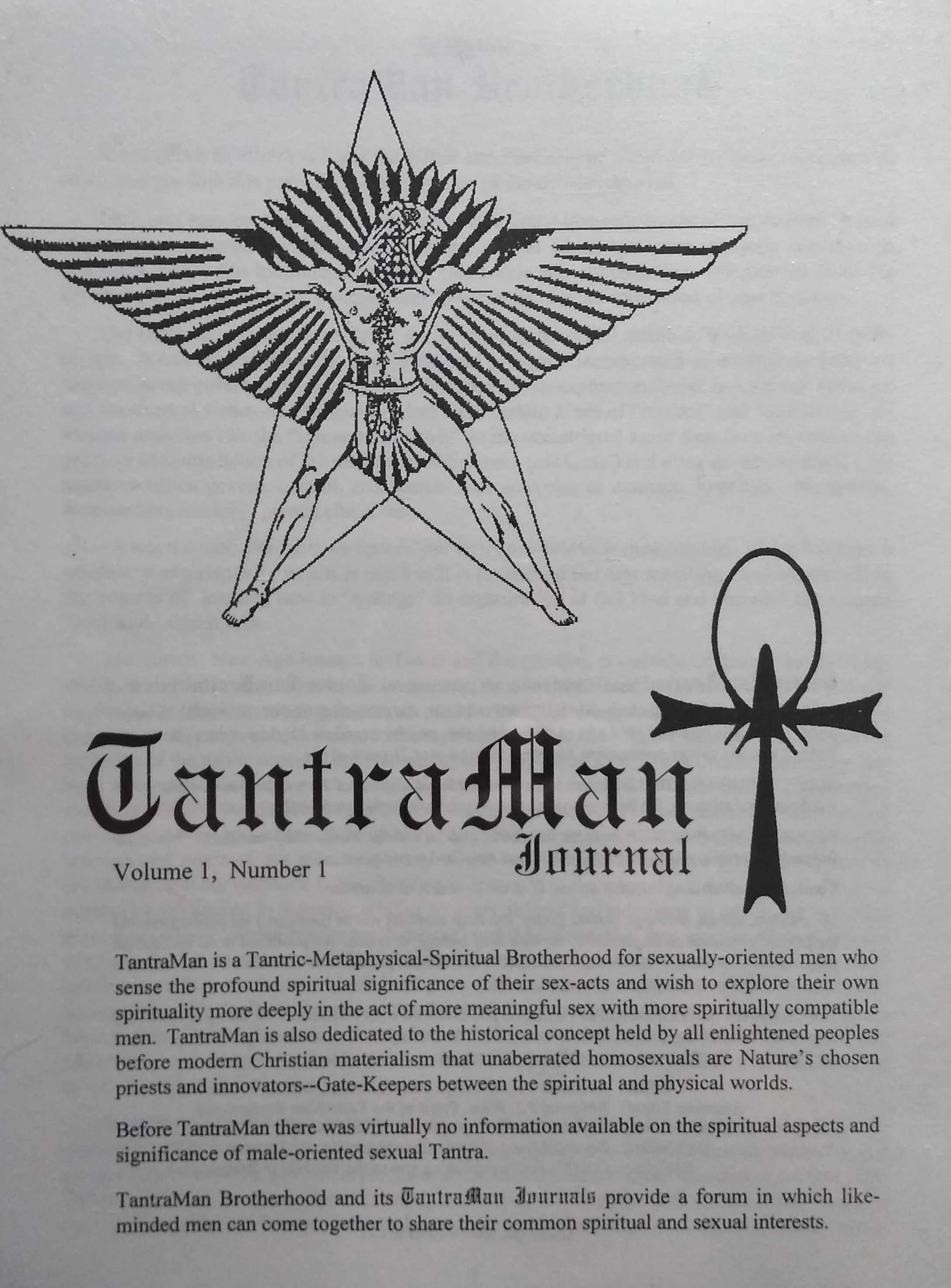 Tantra man Journal
