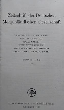 Zeitschrift der Deutschen Morgenlandisch
