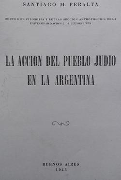La accion del Pueblo Judio en la Argenti