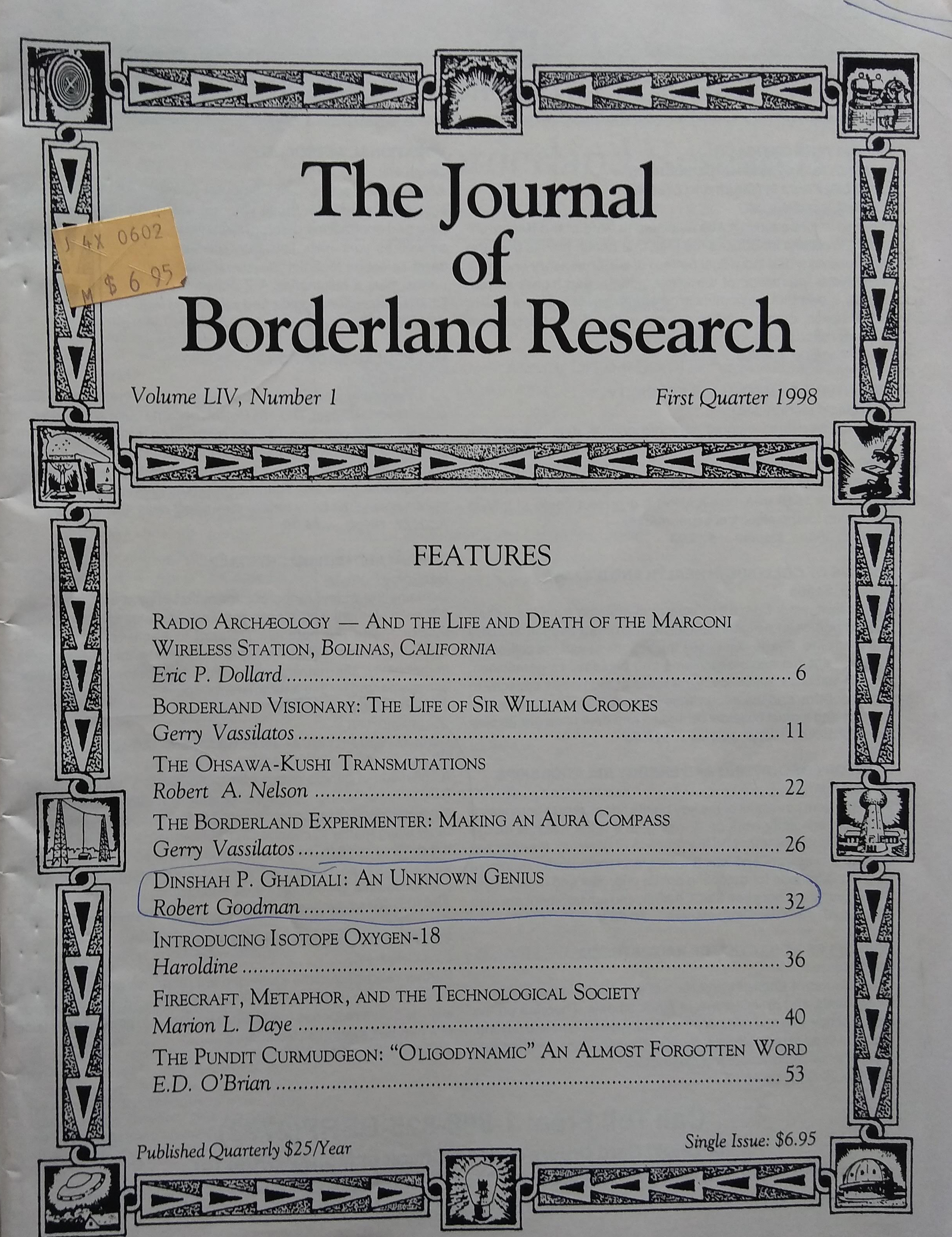 The Journal of Borderland Research