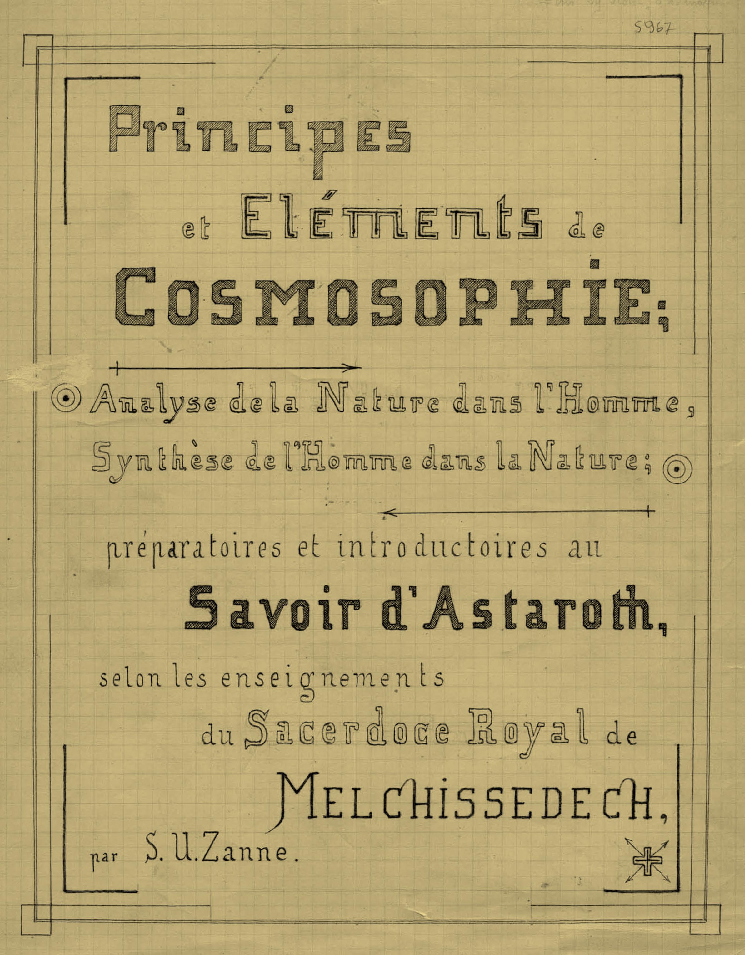 Principes et Eléments de Cosmosophie