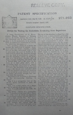 Patent 272023 Device for testing the rad