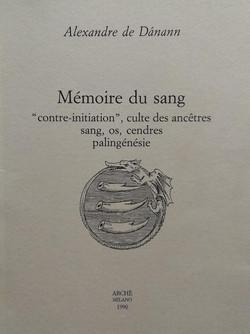 Memoire du sang