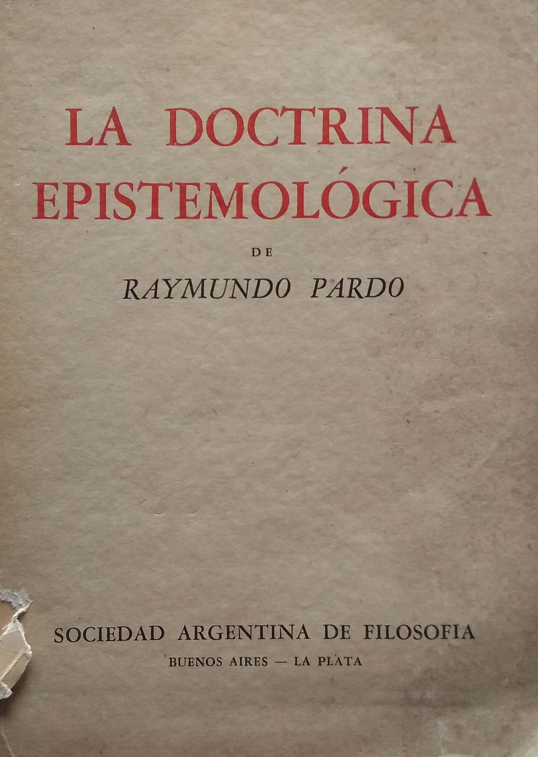 La doctrina epistemologica
