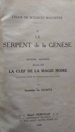 Le serpent de la Genese