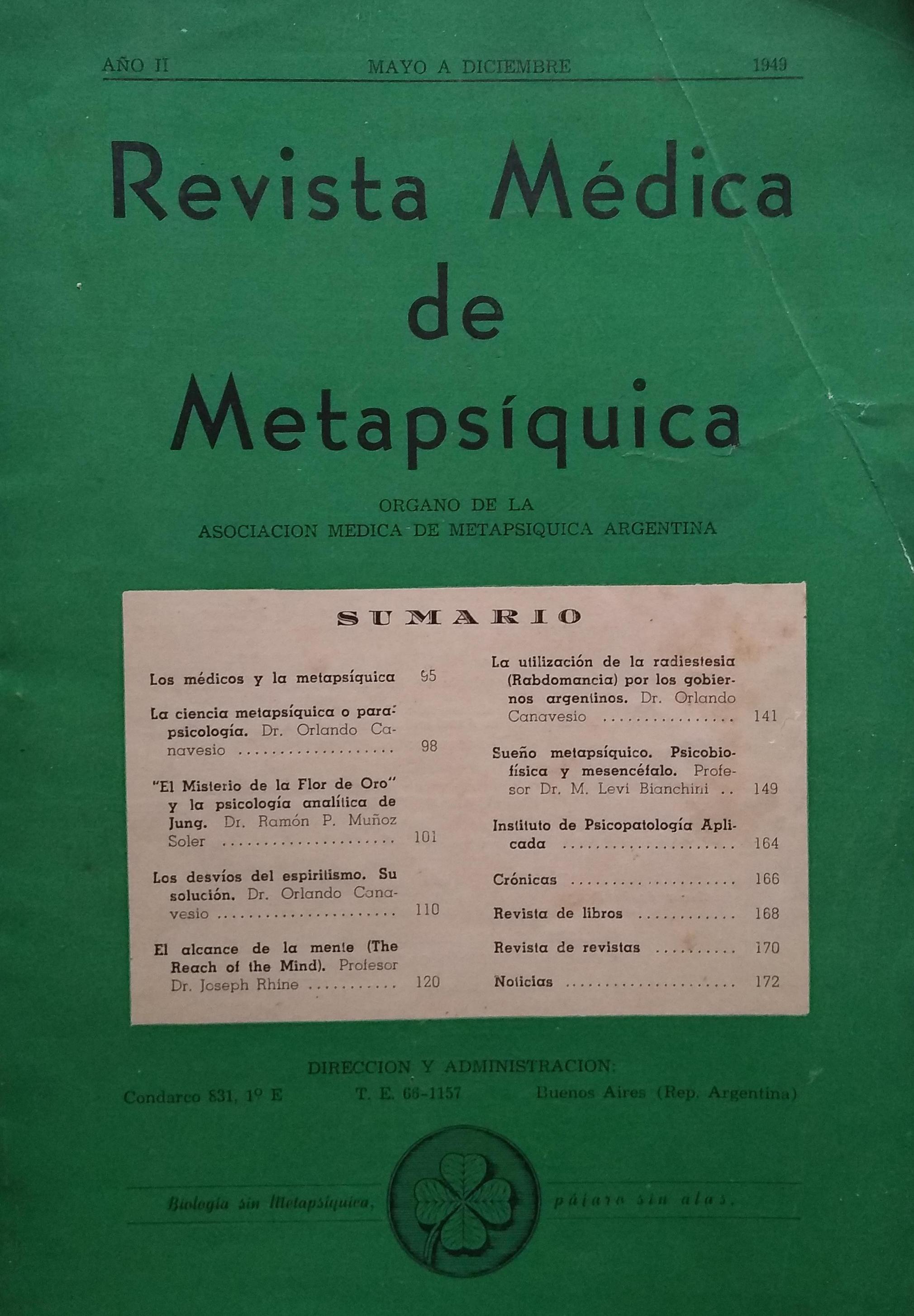 Revista Médica de Metapsíquica