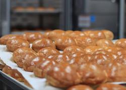 Homemade buns, baked fresh everyday