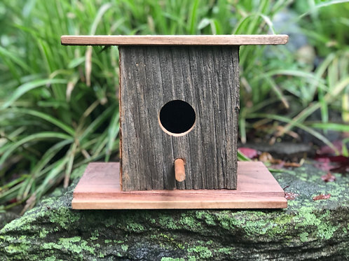 Custom Walnut Bird House