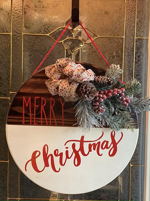 18 wooden Christmas door sign