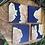 Thumbnail: Maple burl and cobalt blue epoxy coaster set of 4