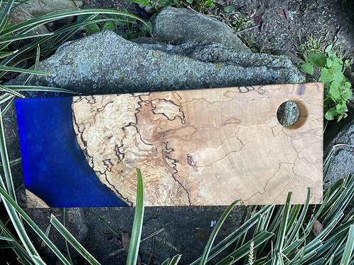 Maple blue and epoxy charcuterie board
