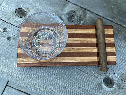 Whiskey and cigar tray