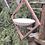 Thumbnail: Mahogany and glass bird bath