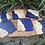 Thumbnail: Maple burl and cobalt blue and pearl epoxy coaster set
