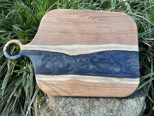 Butternut and epoxy charcuterie board
