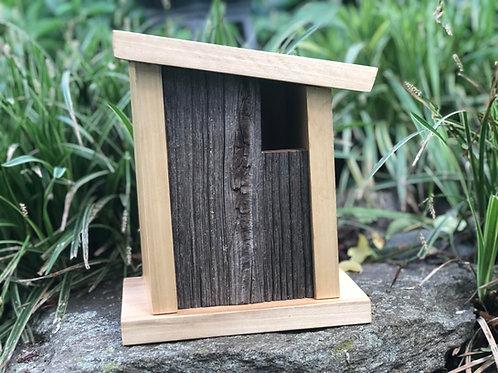 Poplar and Upcycled Pine Barn Wood Bird House