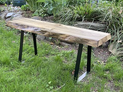 Beech live edge table