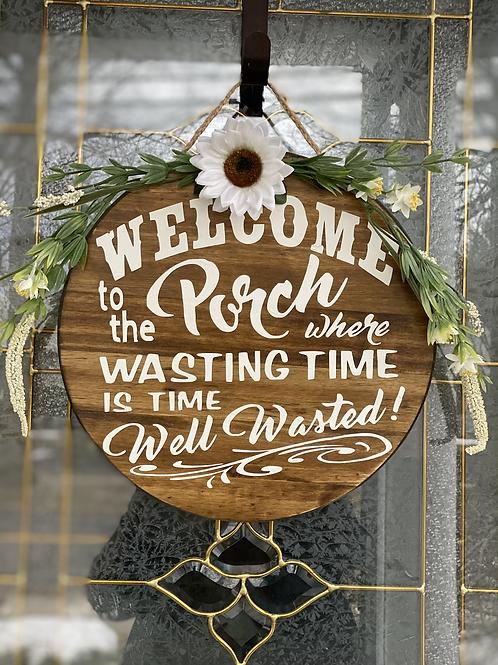 """15"""" wooden welcoming door sign"""