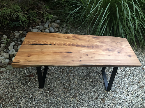 Elm and epoxy coffee table