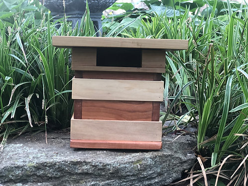 Cherry and Poplar Bird House