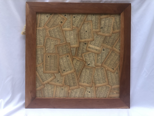 Cherry magnetic scrabble wall frame