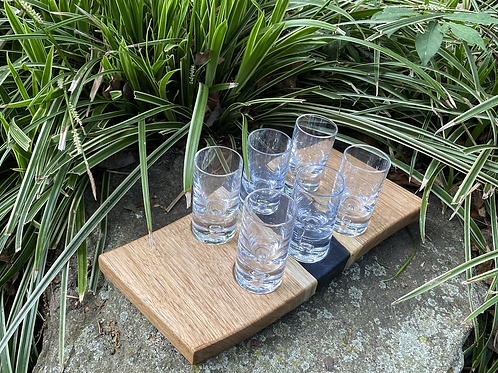 Butternut and epoxy shot serving tray