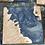Thumbnail: Maple burl and beetle blue epoxy coaster set of 6