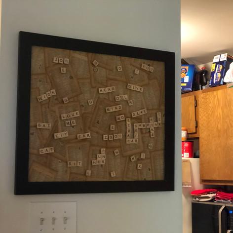 Wall Scrabble Board